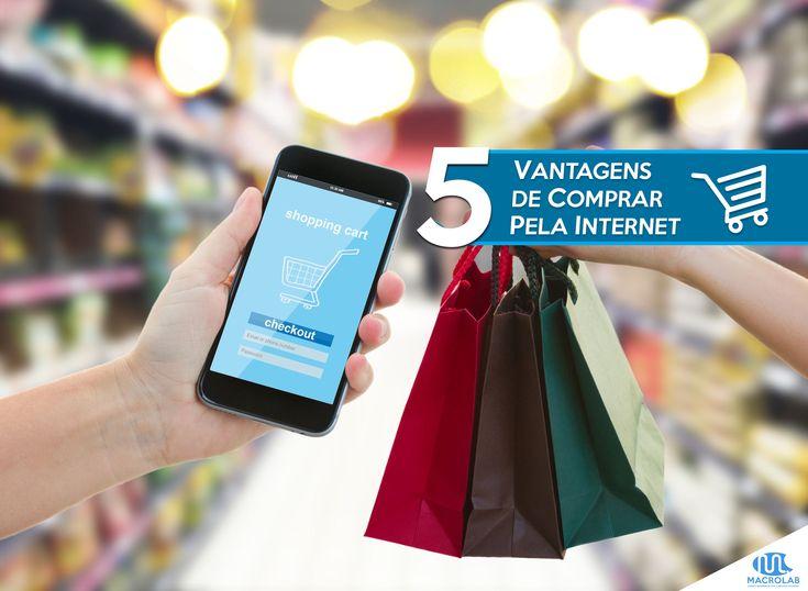 5 #Vantagens em #Comprar pela #Internet  Mais uma #SUPER #DICA para #Você no nosso #Blog!  Você Conhece #alguém que ainda não #compra pela #Internet? Então essa #dica é Justamente para ele! ;) |  Produtos Essenciais para sua Empresa-> Macrolab.com.br