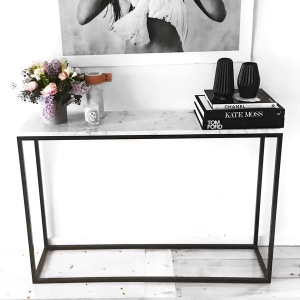 Our range of marble tables are 100% designed and made in Melbourne, Australia and we have selected the very best materials to bring you beautiful furniture at an affordable price. Our Marble entrance table is the perfect narrow width to suit most hallways and entrances. Please note free shipping does not apply to this