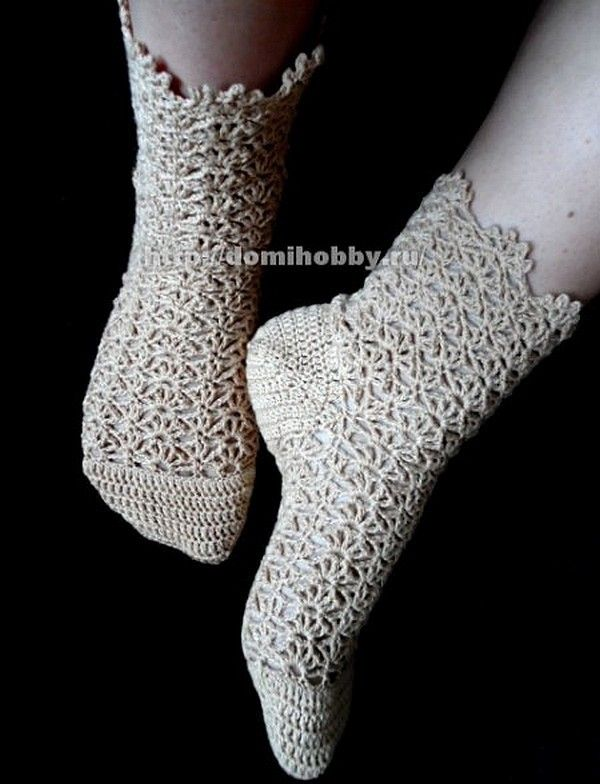 Lacy crochet socks! - step by step tutorial with chart and pictures and if you need more hit google!!