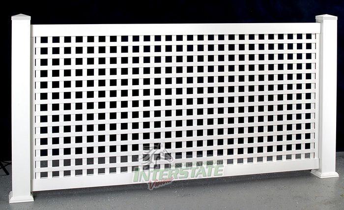 how to build a vinyl lattice fence