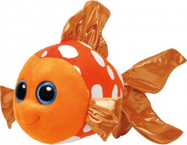 Ty - Beanie Boos Sami le poisson orange moyen 24 cm - Castello | Jeux et Jouets