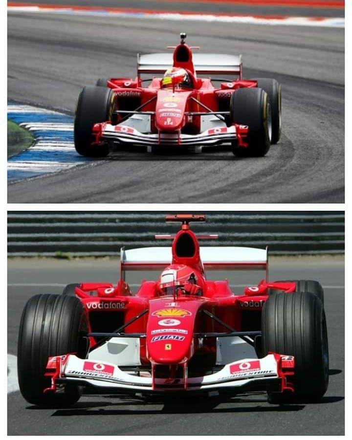 2004 Michael Schumacher 2019 Mick Schumacher