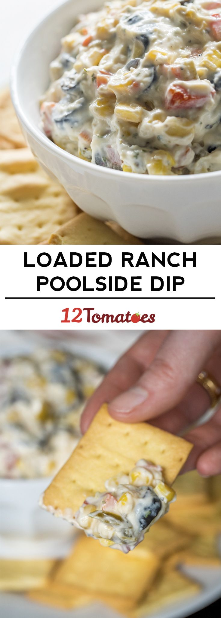 Creamy loaded-up ranch poolside dip