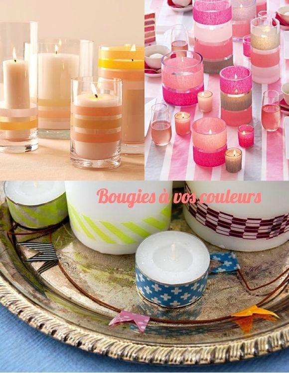 Bougies décorées avec du masking tape  Les aventuriers de la vie