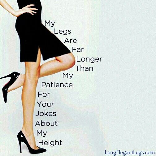 LOL!  Not really true. But this is cute for a long legged woman like me! #LongCoolWomanInABlackDress #KarlaWithAK