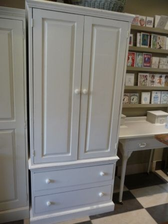Double Wardrobe With Drawers Painted In Farrow Ball