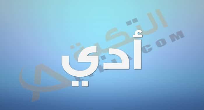 معنى اسم أدي في اللغة العربية حيث انه من الأسماء الغير منتشرة بكثرة لعدم معرفة العديد من الأشخاص بمعناه الحقيقي وال Company Logo Vimeo Logo Tech Company Logos
