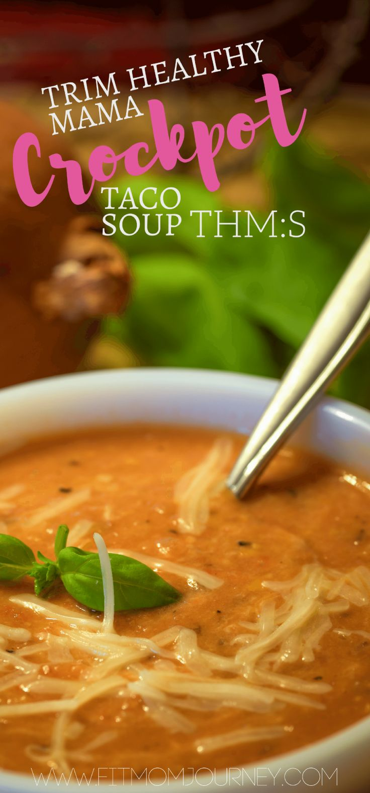 This Trim Healthy Mama Crockpot Taco soup is the perfect THM:S comfort food. Cheesy, spicy, and packed with protein this recipe is a winner!