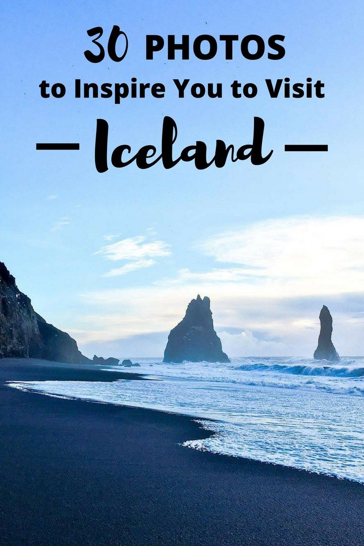 Iceland. The Land of Fire and Ice. Here are 30 photos to inspire you to visit Iceland -- they'll have you booking that trip in no time! || Every Footstep an Adventure