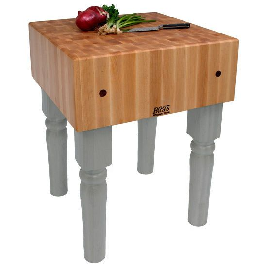 John Boos Butcher Block Table (Maple Top)