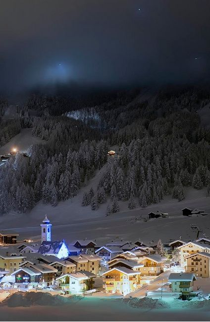 Livigno, Italy. Beautiful place, amazing skiing. Always wanted to spend Christmas in a place like this! :)