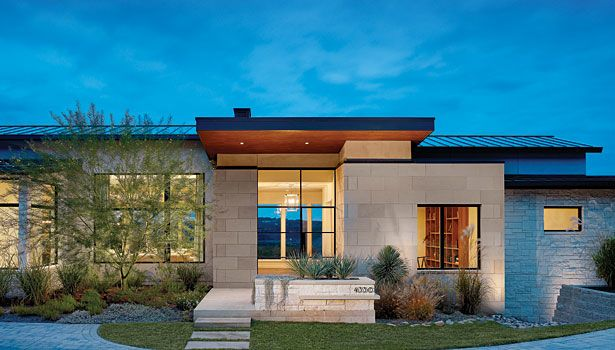 limestone houses in texas | contemporary design in Texas limestone