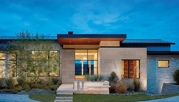 limestone houses in texas | contemporary design in Texas limestone