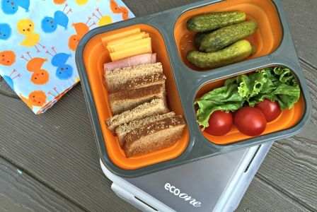 School Lunch Hack No. 2: A bento-style lunch box with compartments is cute AND a great money-saver! They last for years and keep you from buying lots of disposable bags. See all 5 hacks on our blog. #TuesdayMorning