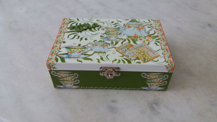 Caixa de chá - www.elo7.com.br/esterartes