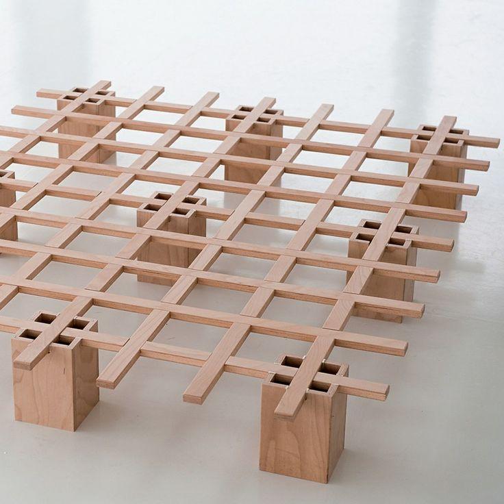 Tojo system bed slat rack wood