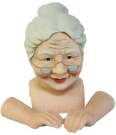 Porcelain Mrs. Claus Head and Hands