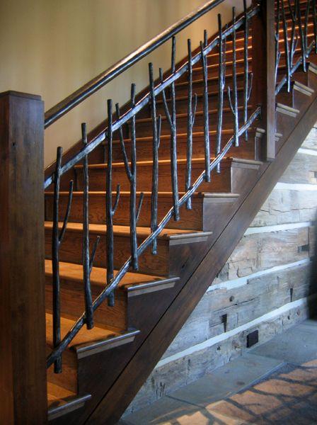 Best Metal Twig Railing Vintage Style Rustic Farmhouse 400 x 300