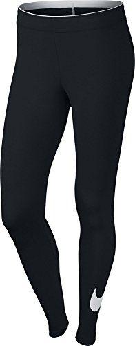 Nike Club Logo Leggings Ladies Outerwear, Womens, Oberbekleidung Club Logo Leggings, Black / White, M