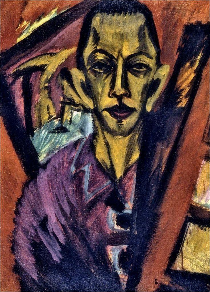 Ernst Ludwig Kirchner · Autoritratto · 1914 · Brücke Museum · Berlin