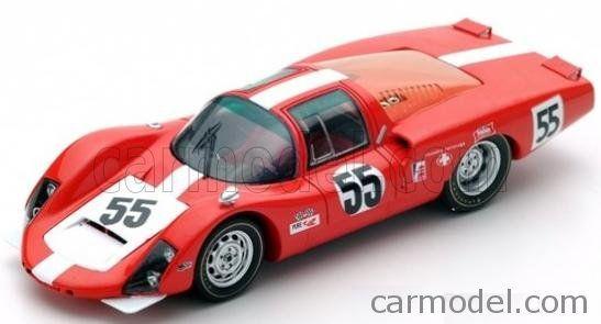 SPARK-MODEL S5421 Scale 1/43  PORSCHE 906 LH N 55 24h DAYTONA 1967 D.SPOERRY - R.STEINEMANN RED
