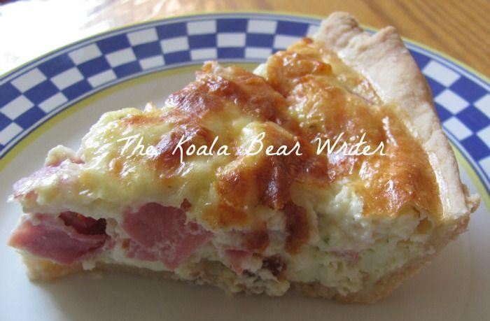 Ham & Spinach Quiche with Kraft Shredded Cheese - The Koala Bear ...