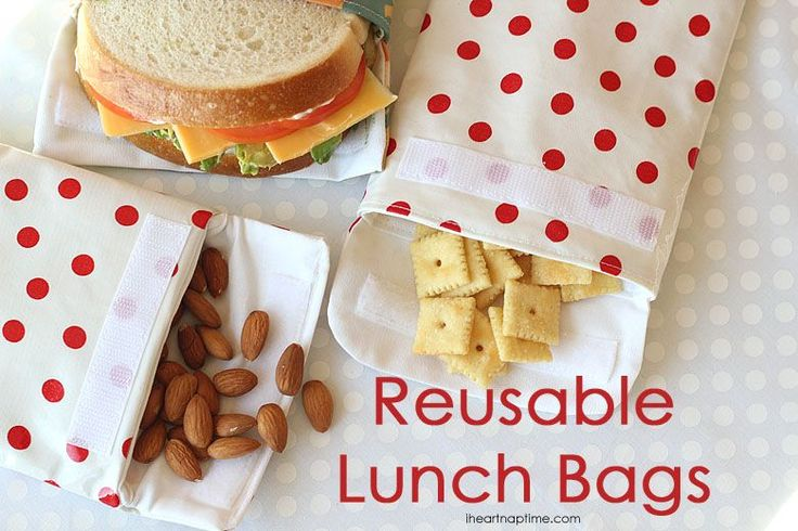 As a parent of young children, I find myself in constant need of snacks on the go.  Between packing my second grader's lunch and grabbing snacks to take with the little ones to gymnastics or on errands, I am always reaching for a plastic baggy.  I stitched up a few reusable baggies and, not only are they cute, but they are the perfect, earth-friendly substitute for your typical snack storage!  You can make these reusable bags in less than 30 minutes; crumbs shake out easily or you can was...