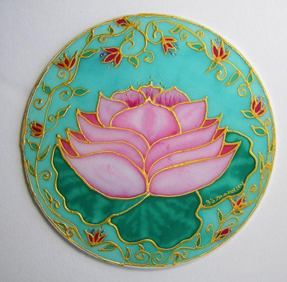 Heart lotus mandala lotus artmandala art chakra artspiritual art via Etsy