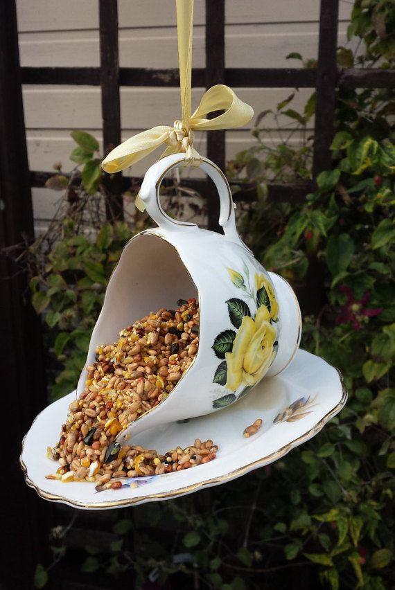 Vintage bird feeder china bird feeder garden by Prettyvintagehouse