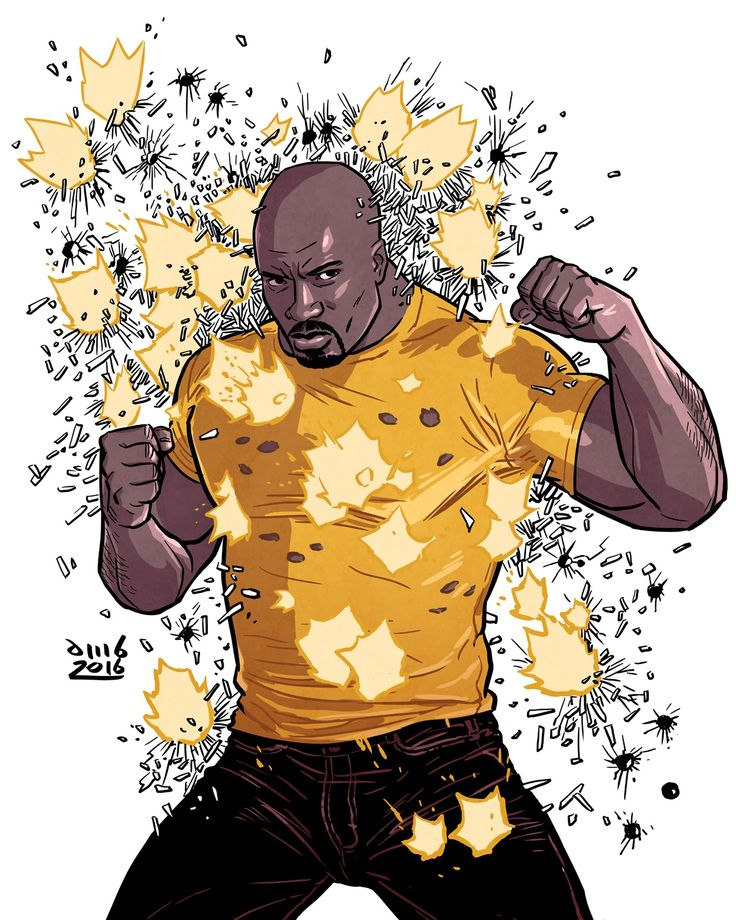 "davidmbuisan: "" Luke Cage, Hero for Hire!!  http://instagram.com/davidmbuisan Art by David M. Buisán """