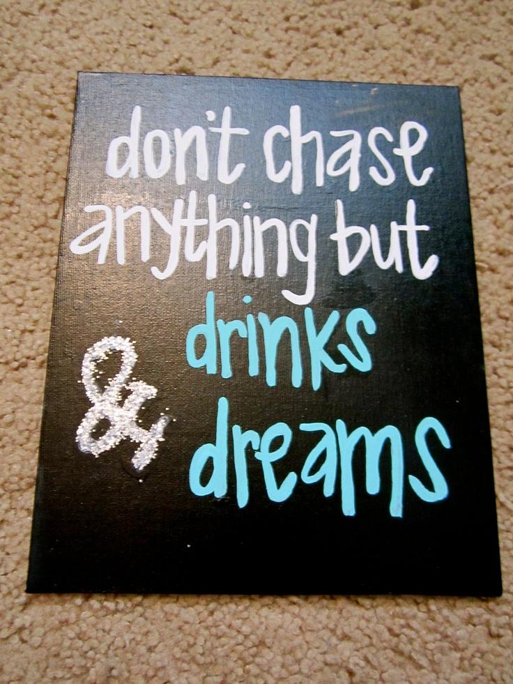 "Drinks & Dreams 8x10"". $20.00, via Etsy."