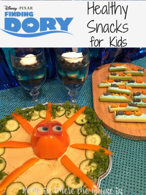"""To celebrate the arrival of Finding Dory in theaters, we've whipped up some healthy """"Finding Dory"""" inspired snacks for kids 