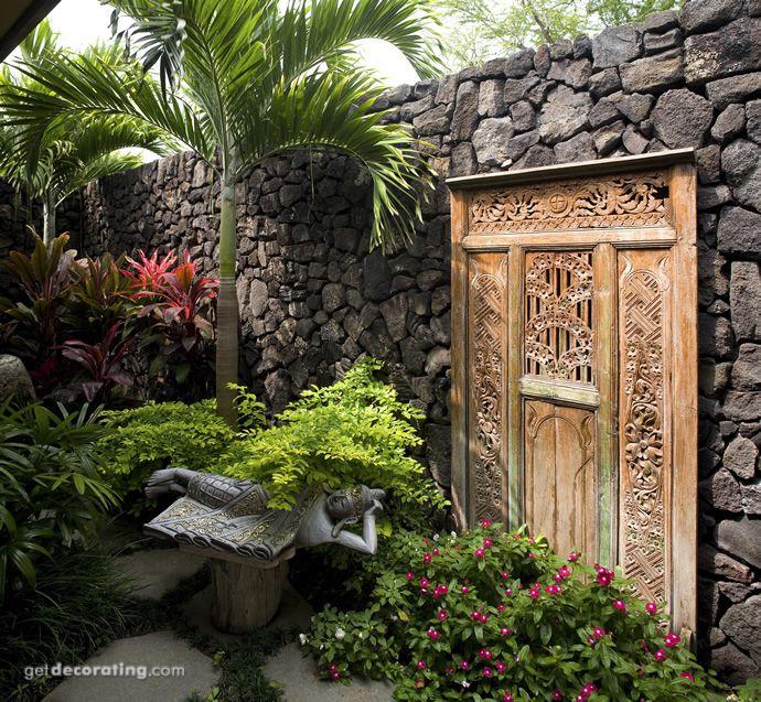Home Garden Design Ideas Houzz Green Tropical House Small: 25+ Best Ideas About Balinese Garden On Pinterest