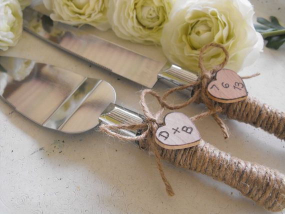 Woodland Country Rustic Chic Wedding Cake Server by hanscreations