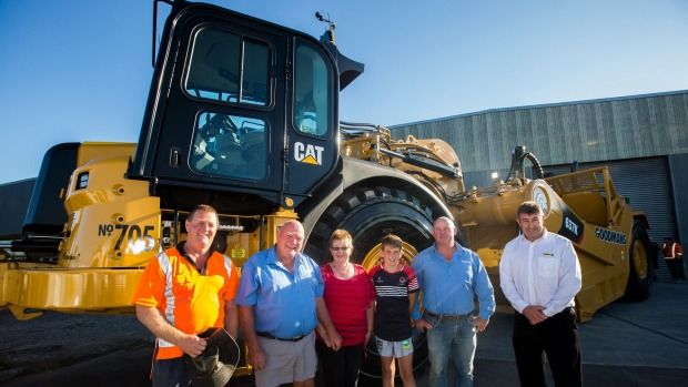 Gough Cat has sold close to $4 million dollars worth of machinery to Goodman Contractors. Left to right, Lance, Rick, ...