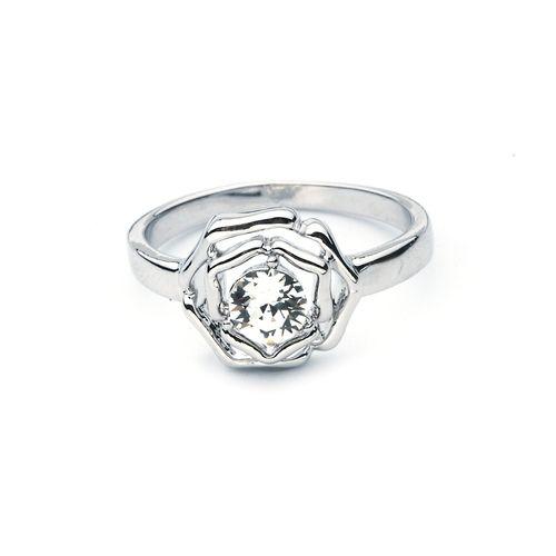 Contemporary Petite Rose Ring