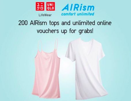 25-26 Jun 2016: UNIQLO AIRism Tops and Unlimited Online Voucher Giveaway
