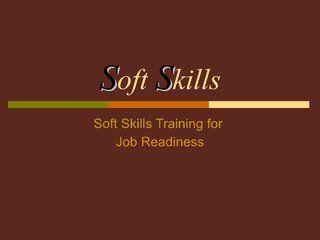 soft skills training for job readiness