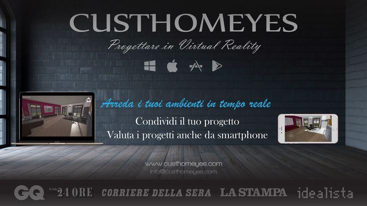 Progetta ed arreda in tempo reale i tuoi ambienti dal tuo PC #custhomeyes #interiordesign