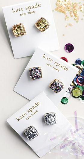Gorgeous kate spade glitter stud earrings http://rstyle.me/n/twbt9nyg6