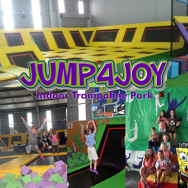 JUMP4JOY Indoor Trampoline Park is the first indoor trampoline park to open its doors in KwaZulu-Natal, South Africa. You will find yourself smiling at our interlocking trampolines with sidewalls.  Glide through the doors and onto our 40 interconnected trampolines in the Open Jump area. You will bounce off the walls with fun. Defy gravity and dunk like a pro with our Basketball Slam Dunk Lanes. Duck, dive and twirl with our trampoline Dodgeball. Our court is ready and waiting. Dodging balls…
