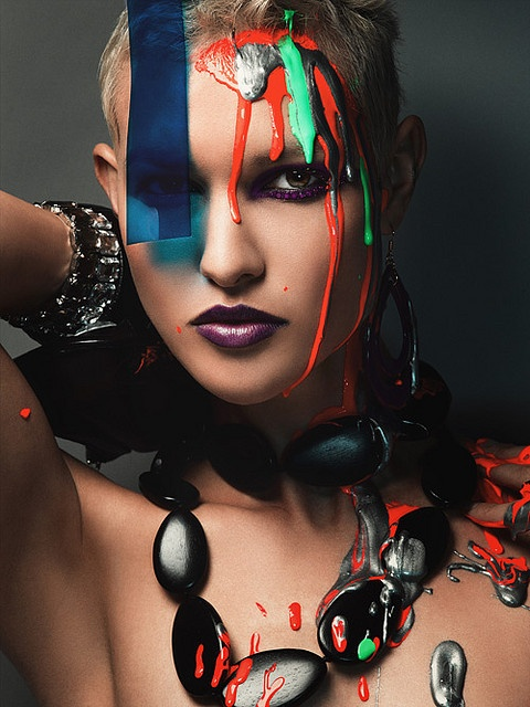 beauty shots with jewels & paint from America's Next Top Model: Claire Unabia, Extreme Beautiful, Tops Models, Beautiful Shots, Antm Models, Antm Photos, Photoshoot Ideas, Claire Aim, Beautiful Shoots