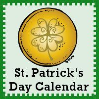 Free St. Patrick's Day Calendar Set  - Pattern Set, Regular Set and Single Page Calendar- 3Dinosaurs.com