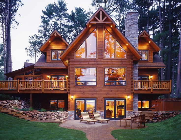 Strongwood Log Homes Floor Plans: 26 Best Log Home & Cabin Exteriors Images On Pinterest
