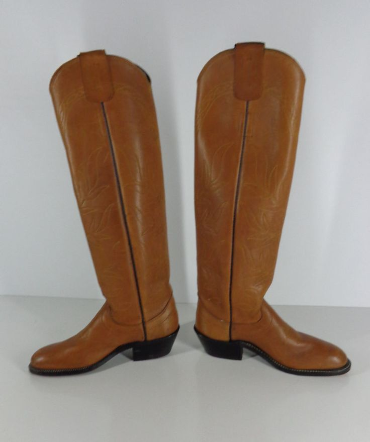 Vintage Women's Olathe Brown Leather Stove Pipe Western Riding Boots 5B #OlatheBootCo #Boots #Doyoureallyneedone