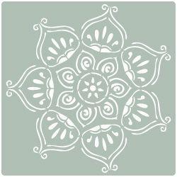 stencil pared roseton 008                                                                                                                                                      Más