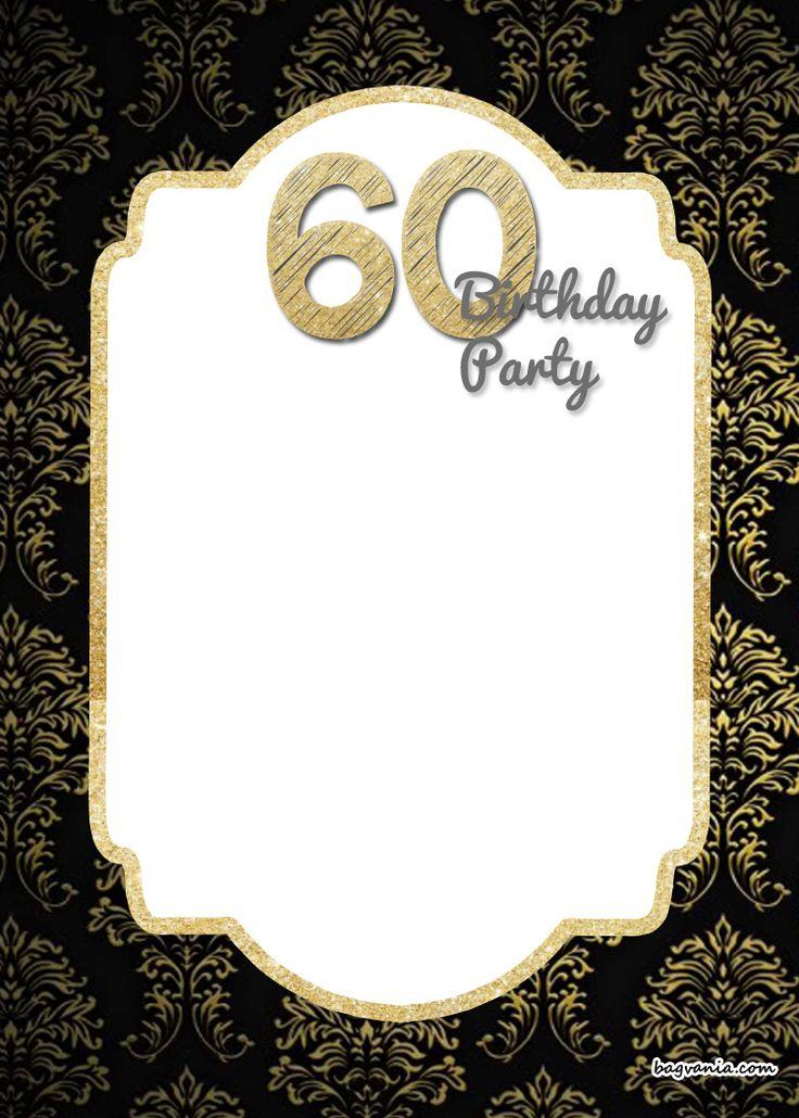 Free FREE Printable 60th Birthday Invitation Templates