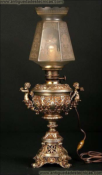 85 best images about lamparas de gas y alcohol on - Lamparas de cristal antiguas ...