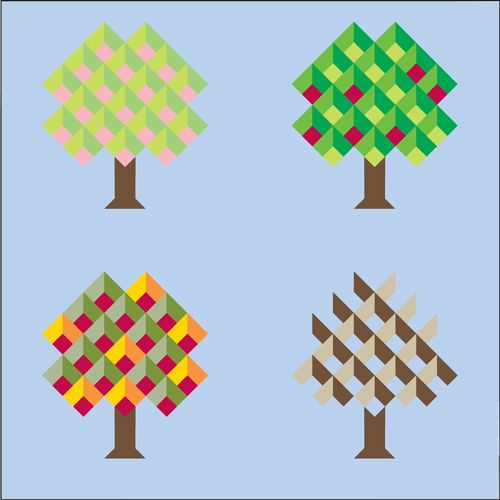 153 best Tree and leaf quilts images on Pinterest | Quilt patterns ... : apple tree quilting - Adamdwight.com
