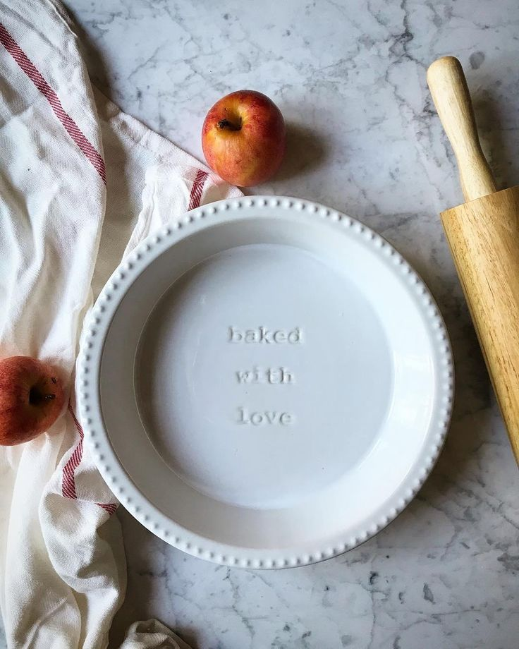 Baked with Love Pie Plate | Williams Sonoma